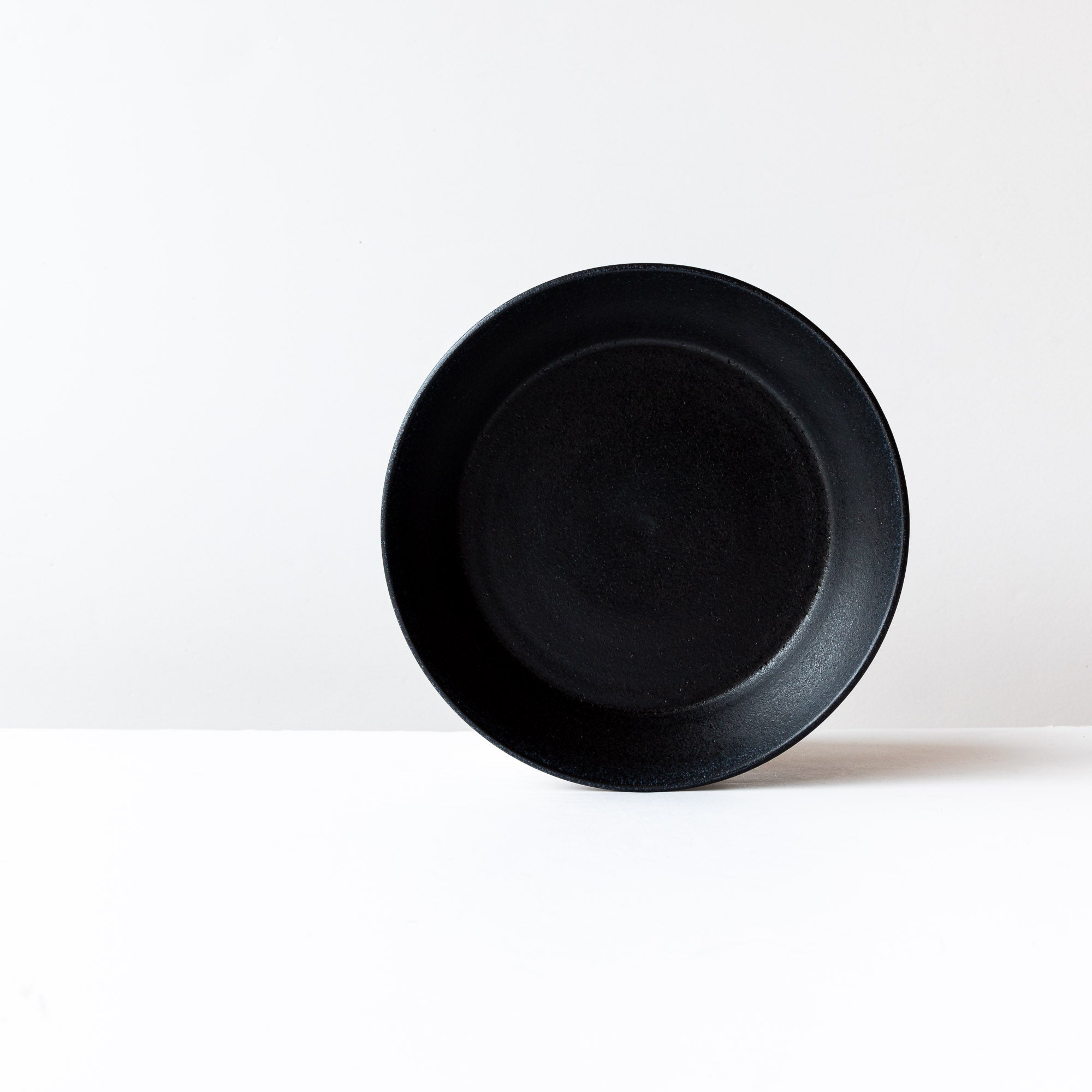 Black 9 Inch Handmade Stoneware Pie Plate / Pan Dish - Sold by Chic & Basta