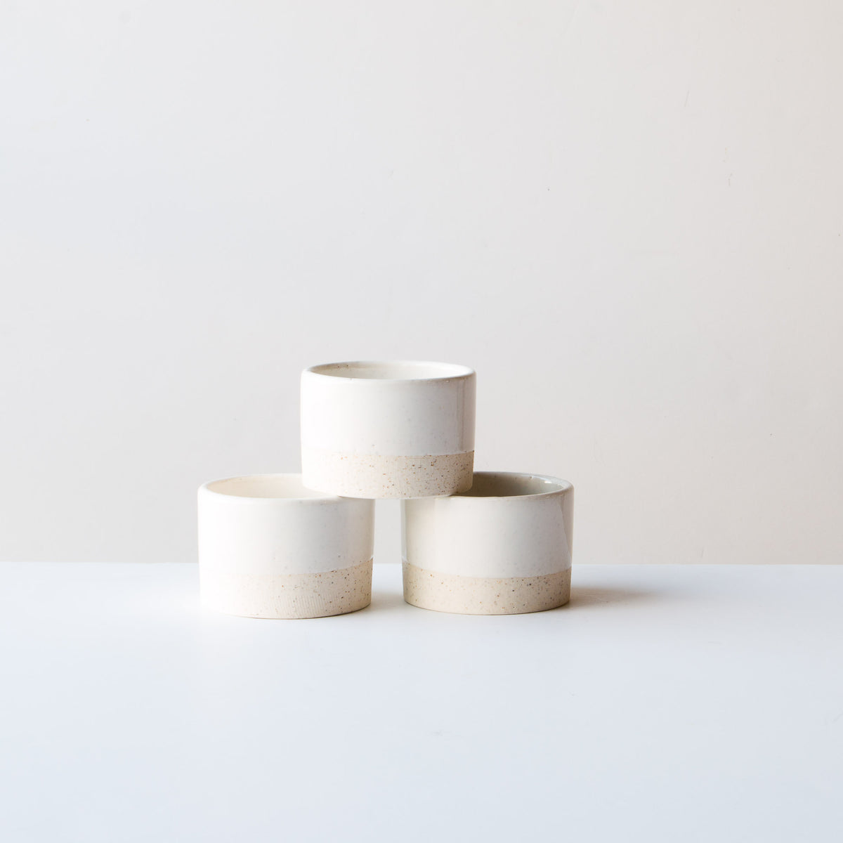 Three Oatmeal Clay - Soft White Glaze - 6 oz / 200 ml Handmade Ceramic Ramekin - Made in Canada - Shop Online
