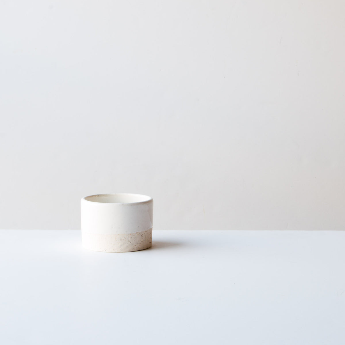 Oatmeal Clay - Soft White Glaze - 6 oz / 200 ml Handmade Ceramic Ramekin - Made in Canada - Shop Online