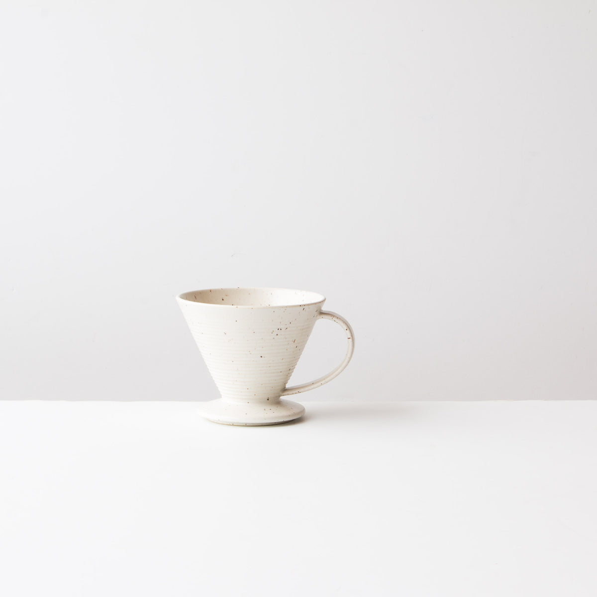 Speckled Off-White - Handmade Ceramic Pour-Over Coffee Dripper - Sold by Chic & Basta