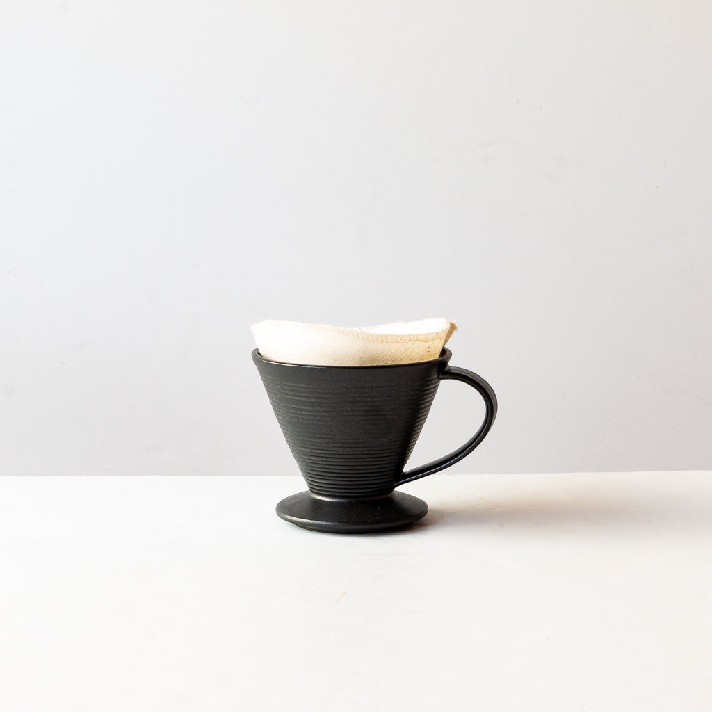 Handmade Ceramic Pour-Over Coffee Dripper With Cotton Coffee Filter - Sold by Chic & Basta