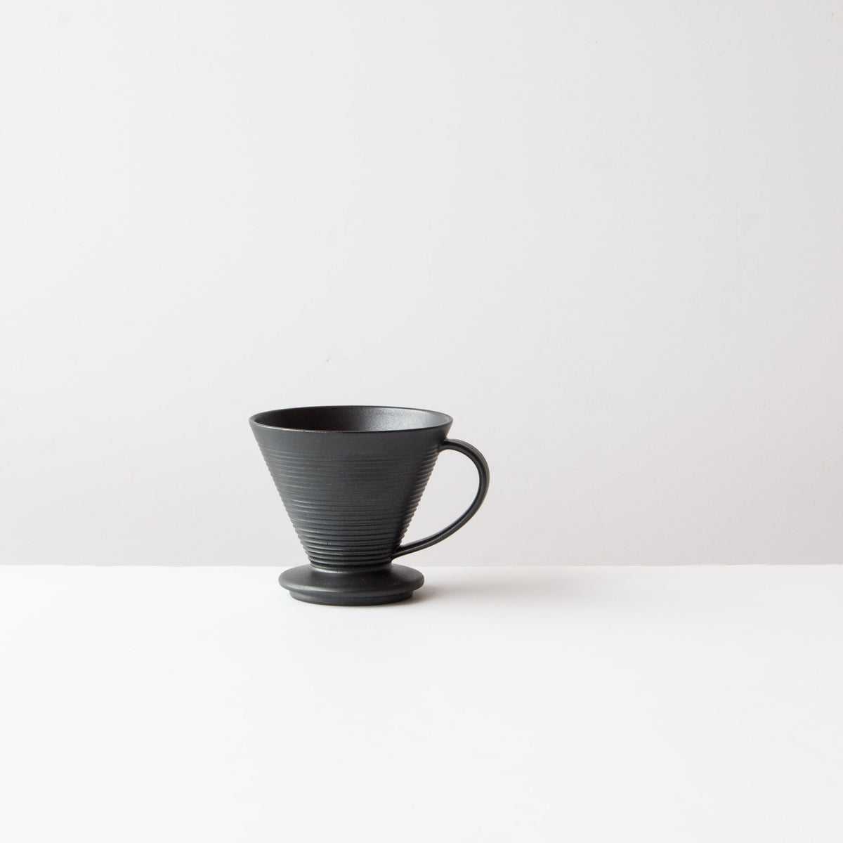 Black Colour - Handmade Ceramic Pour-Over Coffee Dripper - Sold by Chic & Basta