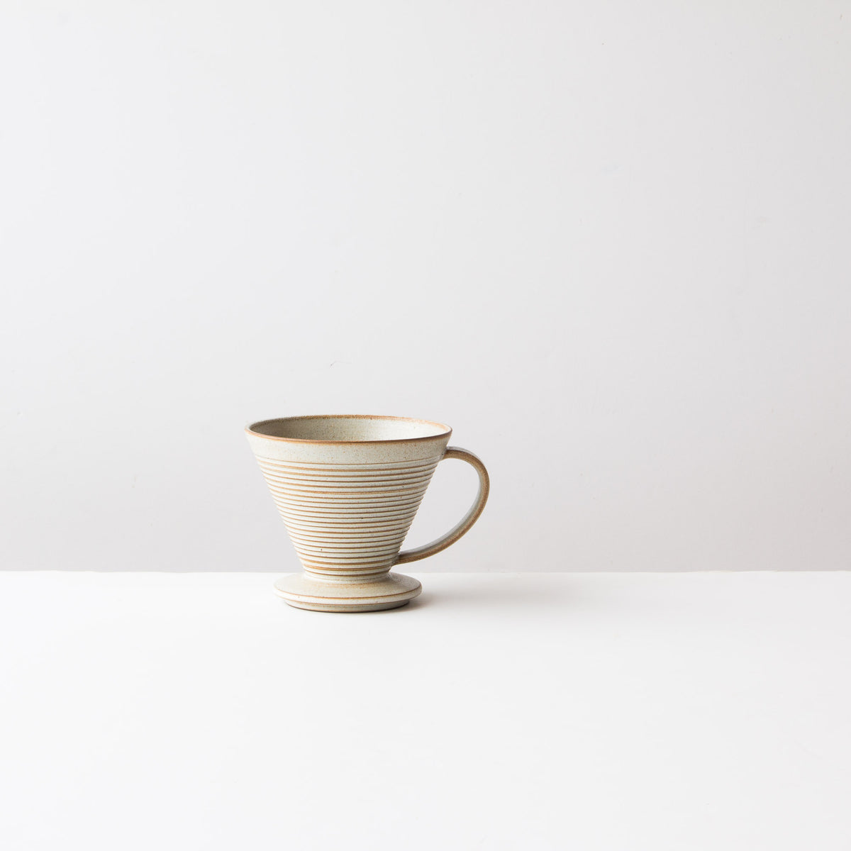 Greige Colour - Handmade Ceramic Pour-Over Coffee Dripper - Sold by Chic & Basta