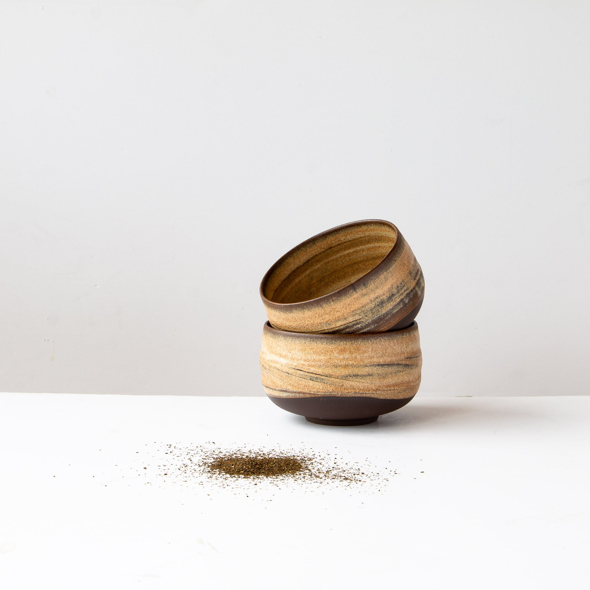 Handcrafted Matcha Bowl (Chawan ) in Black Stoneware - Sold by Chic & Basta