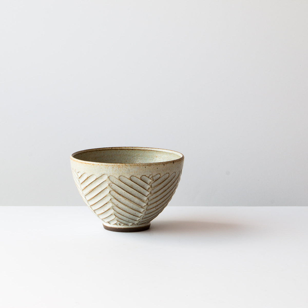 Greige Colour - Side View - Handmade Ceramic Latté Bowl / Coffee Cup - Hand Thrown in Canada - Chic & Basta