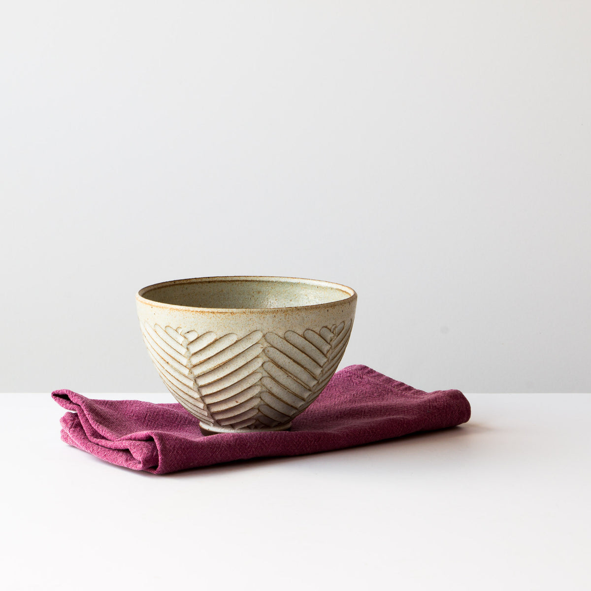 Greige Colour - Handmade Ceramic Latté Bowl / Coffee Cup - Hand Thrown in Canada - Chic & Basta