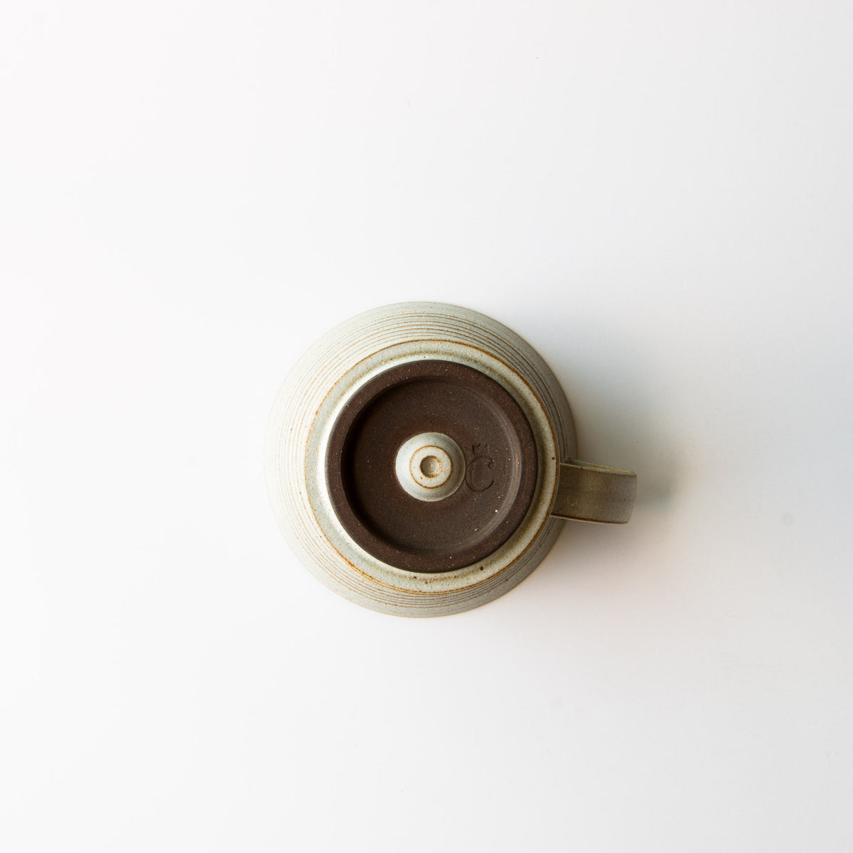 Bottom View - Greige Colour - Handmade Ceramic Pour-Over Coffee Dripper