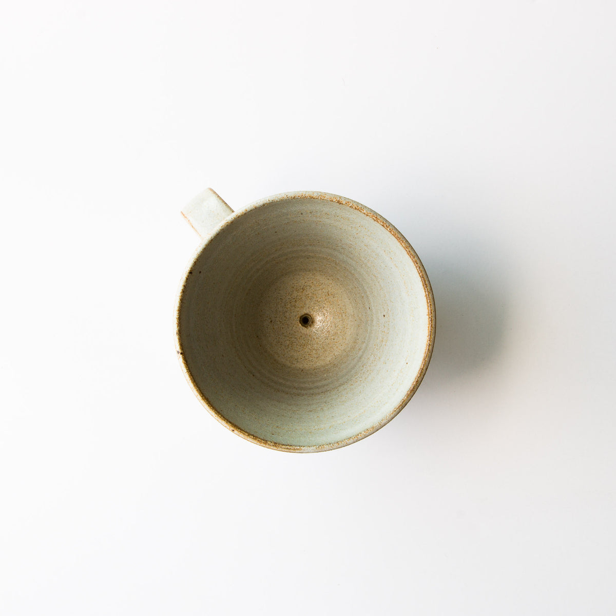 Top View - Greige Colour - Handmade Ceramic Pour-Over Coffee Dripper
