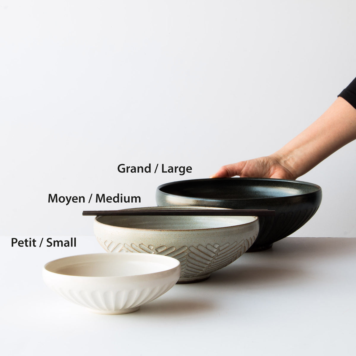 Dimensions Of Ceramic Eating Bowls. Christian Roy. Chic & Basta.