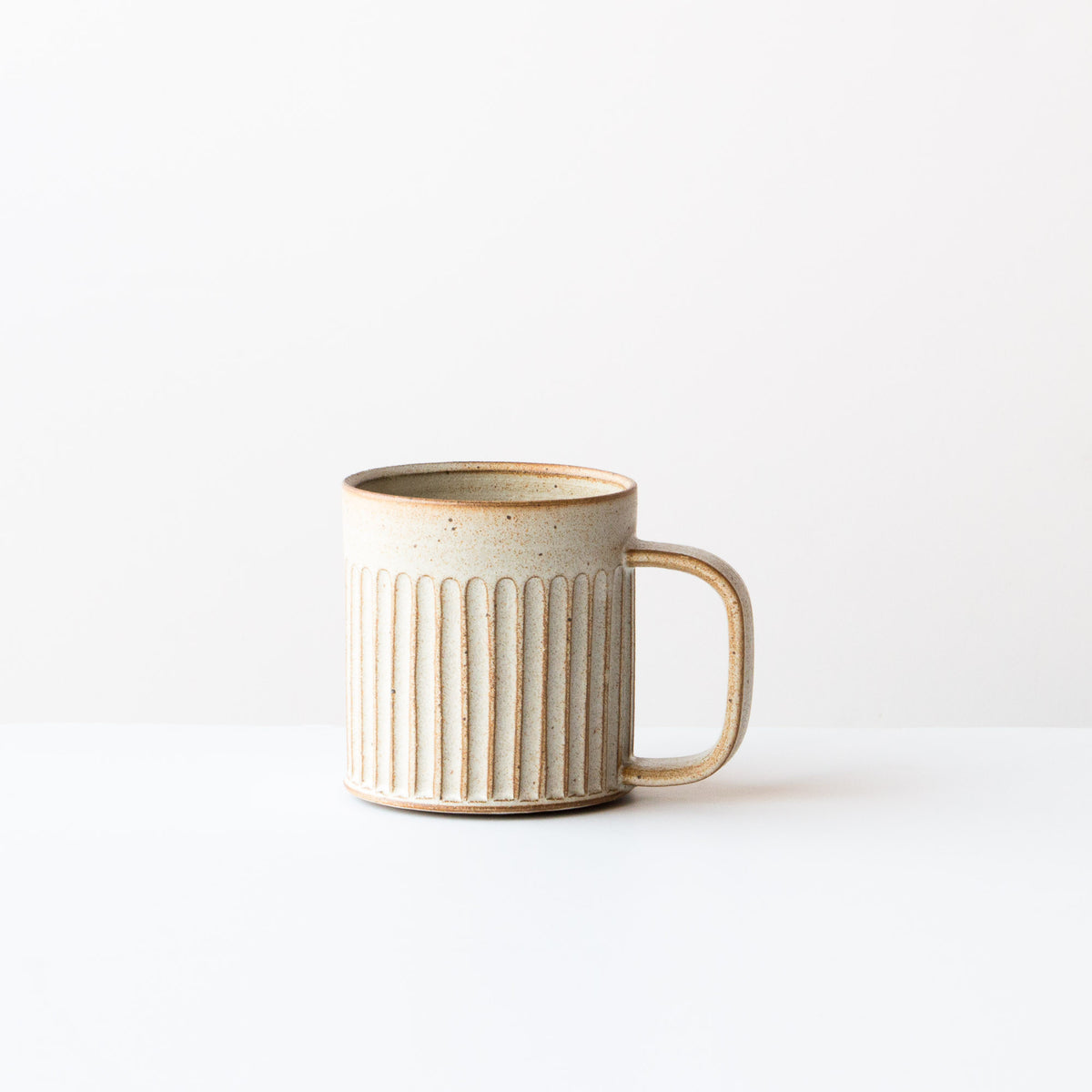 Greige Colour - Hand Thrown Ceramic Coffee Mug - Handmade in Quebec by Christian Roy - Chic & Basta