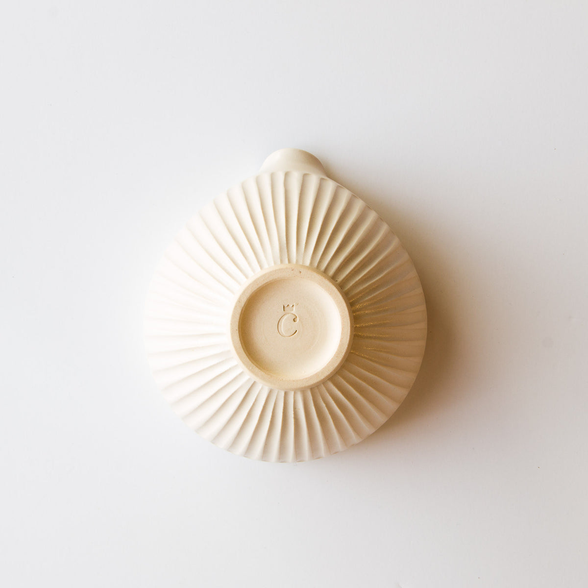 Bottom View - Off White - Hand Thrown Ceramic Mixing / Batter Bowl - Handmade in Canada - Chic & Basta