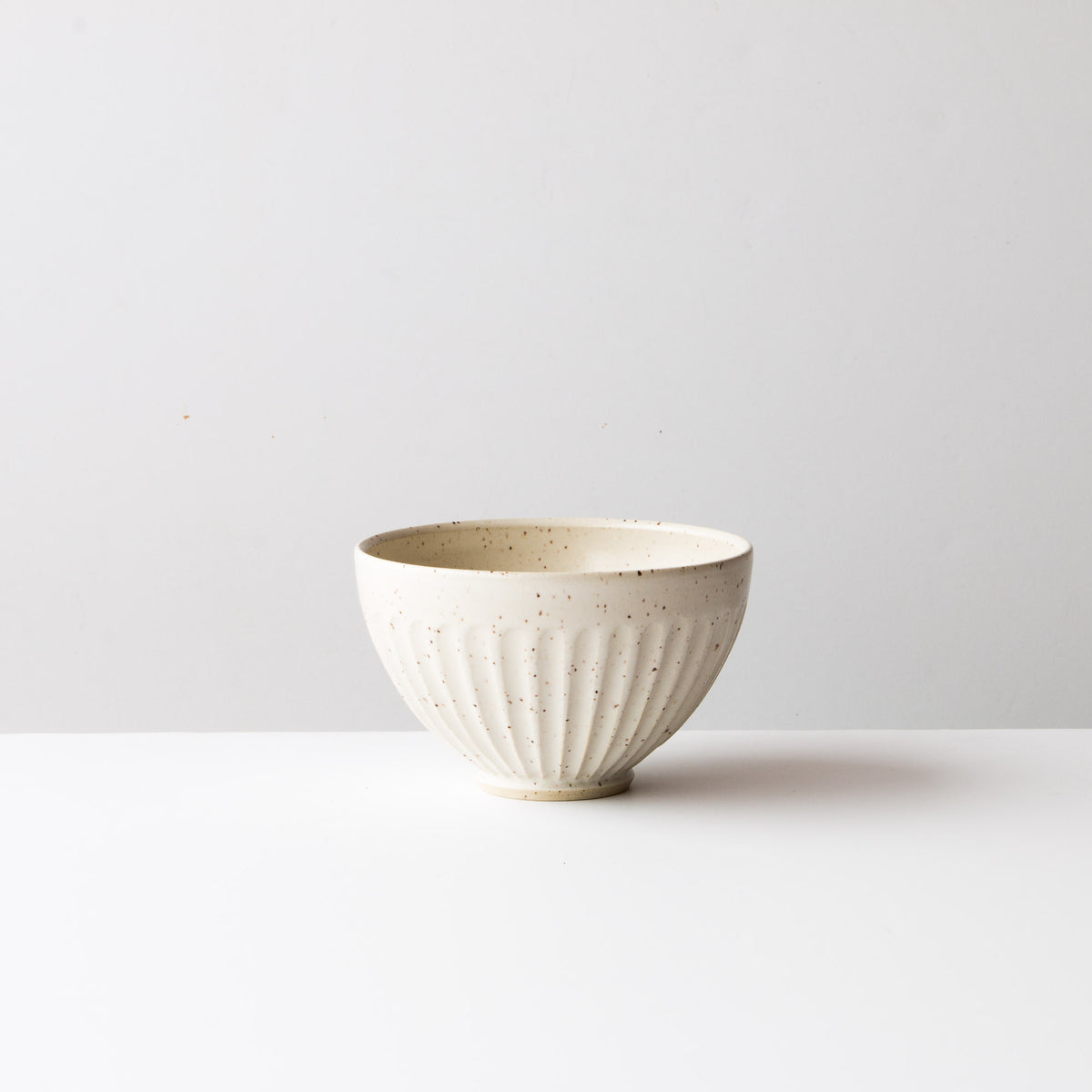 Speckled Off-White - Handmade Ceramic Coffee Bowl / Latté Cup - Hand Thrown in Canada - Chic & Basta