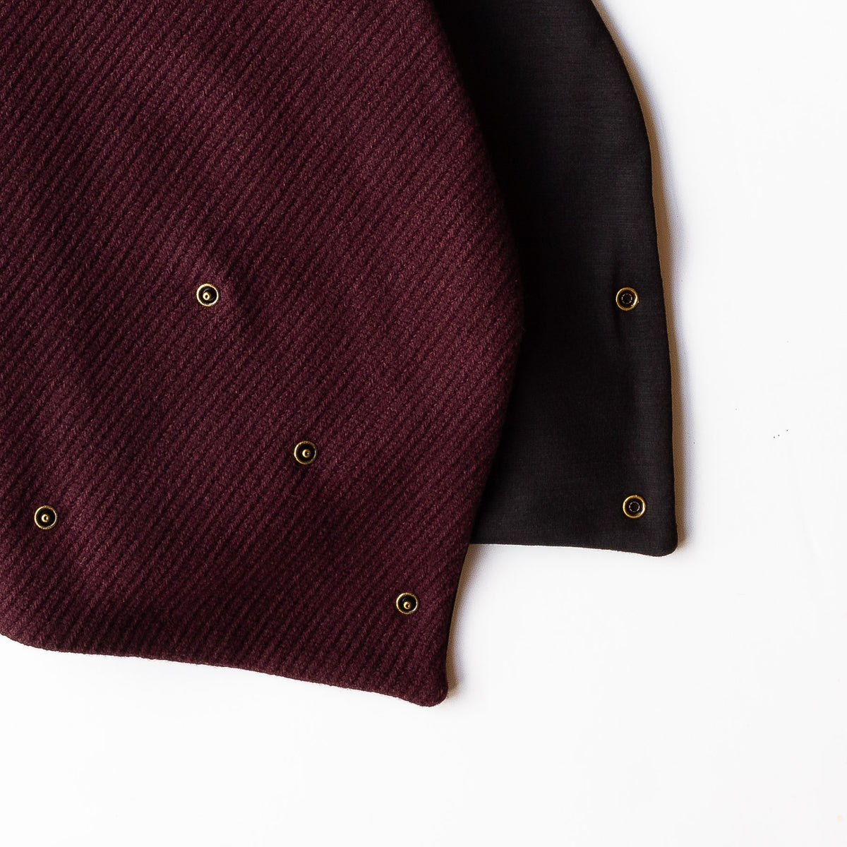 Detail - Dandurand Knitted Cotton Scarf - Burgundy - Sold by Chic & Basta