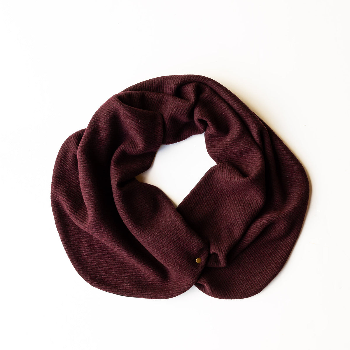 Dandurand Knitted Cotton Scarf - Burgundy - Sold by Chic & Basta