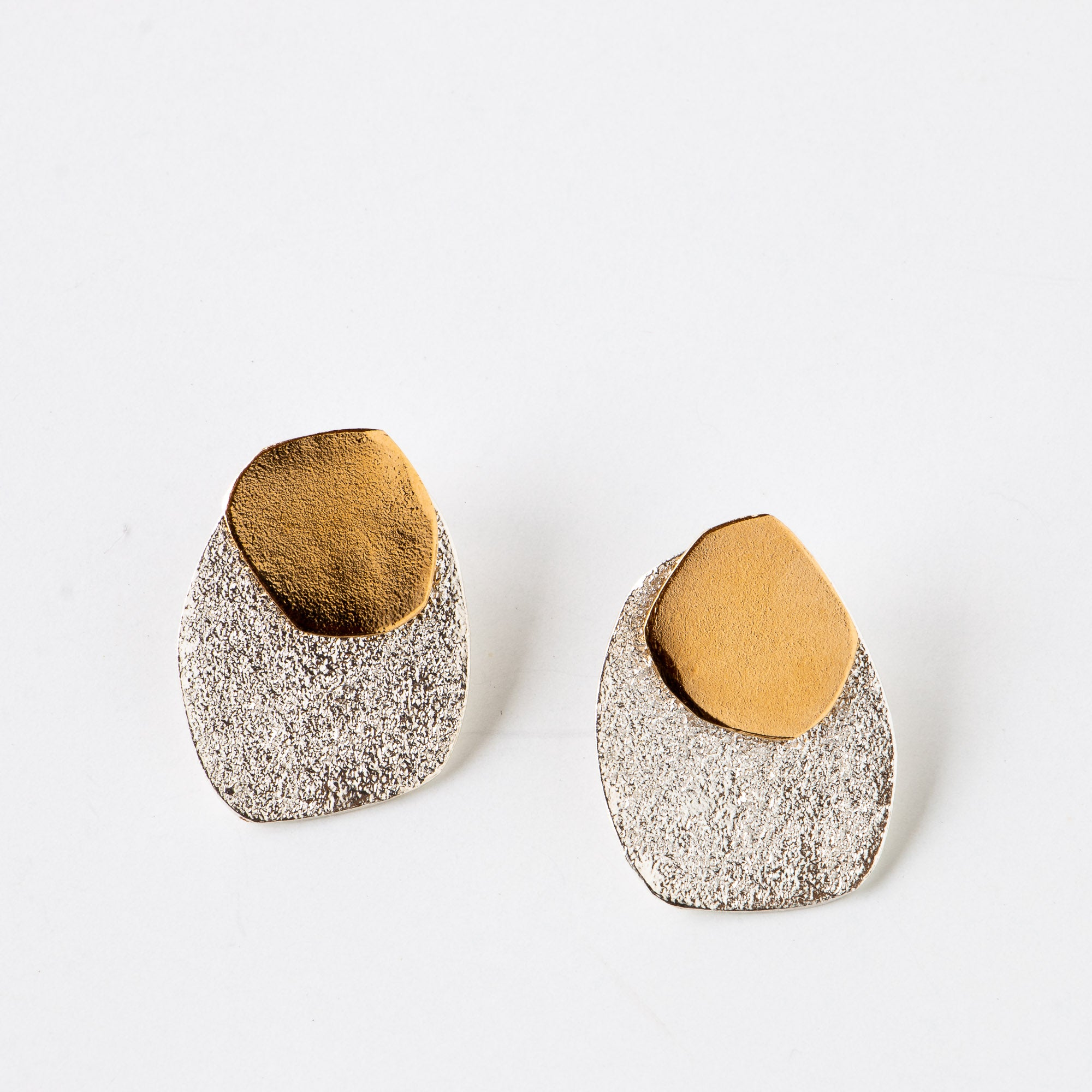 Olas - Ear Jacket / Silver & 14k Gold Plated Earrings Sold by Chic & Basta