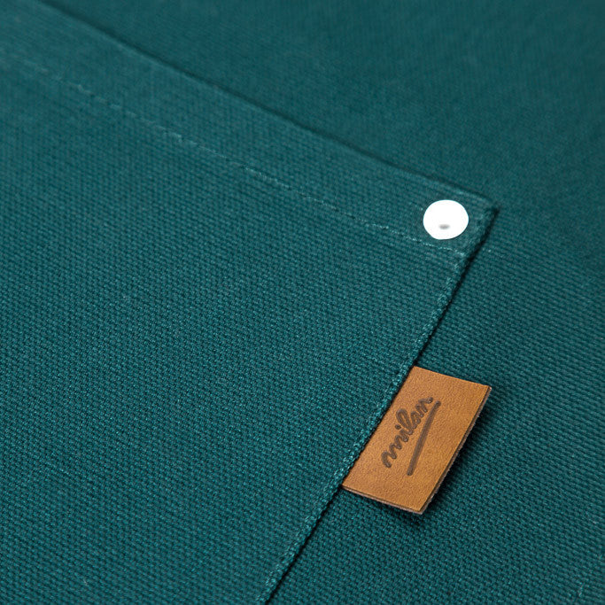 Detail - Emerald Unisex Kitchen Apron  - PATRIZIO - Handmade in Canada