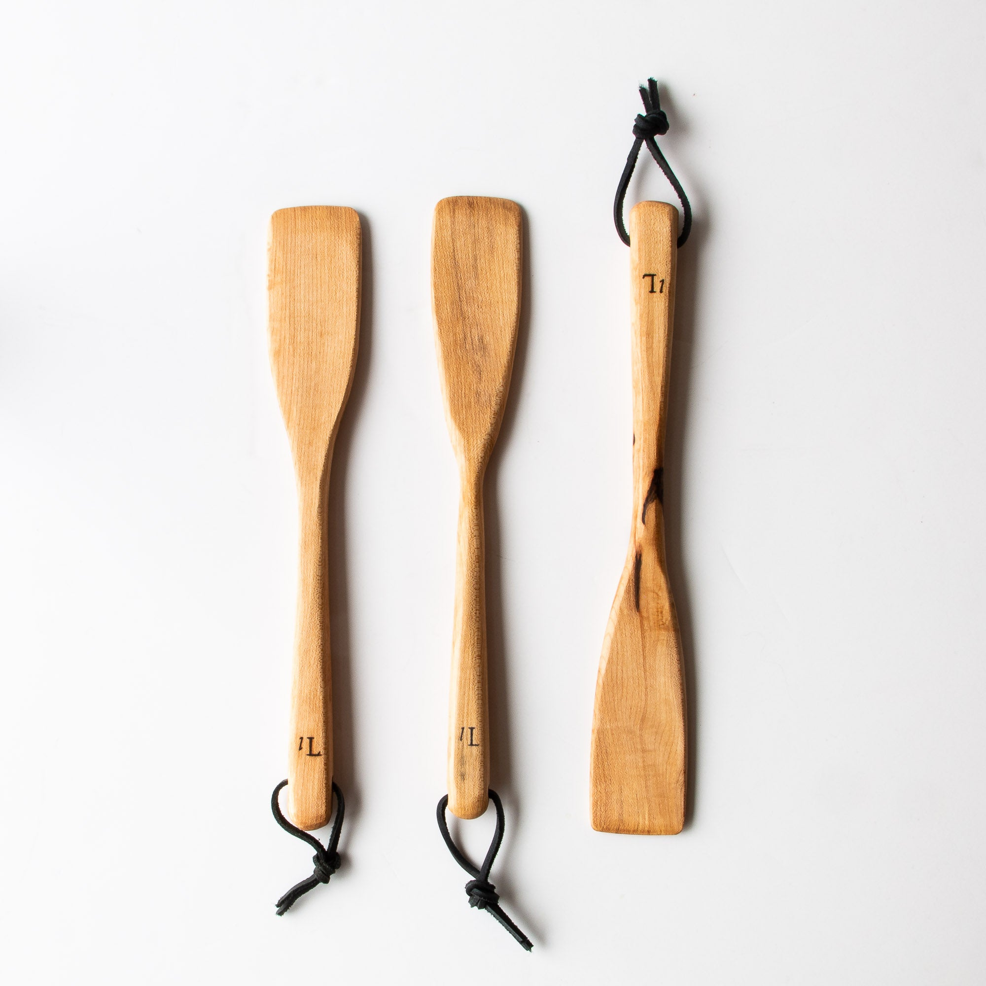 Three Handcrafted Everyday Spoons in Reclaimed Maple Wood - Sold by Chic & Basta