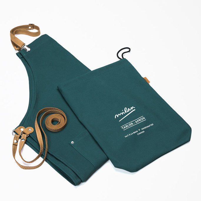 Packaging - Emerald Unisex Kitchen Apron  - PATRIZIO - Handmade in Canada - Chic & Basta