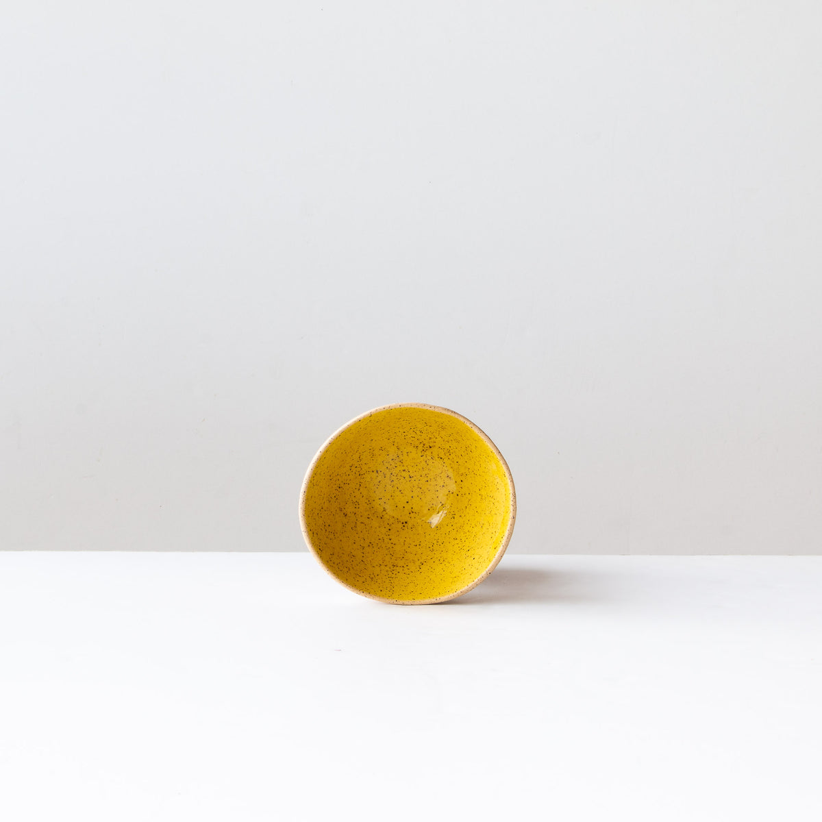 Yellow Handmade Freckled Ice Cream Bowl in Sandstone Ceramic - Sold by Chic & Basta
