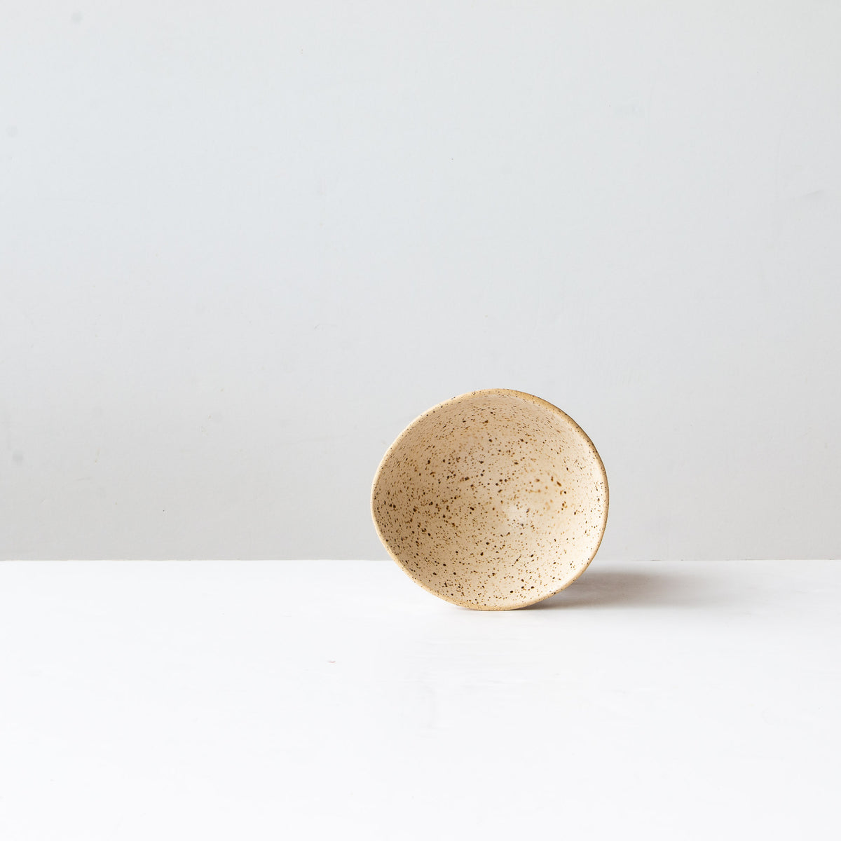Off-White- Handmade Freckled Ice Cream Bowl in Sandstone Ceramic - Sold by Chic & Basta