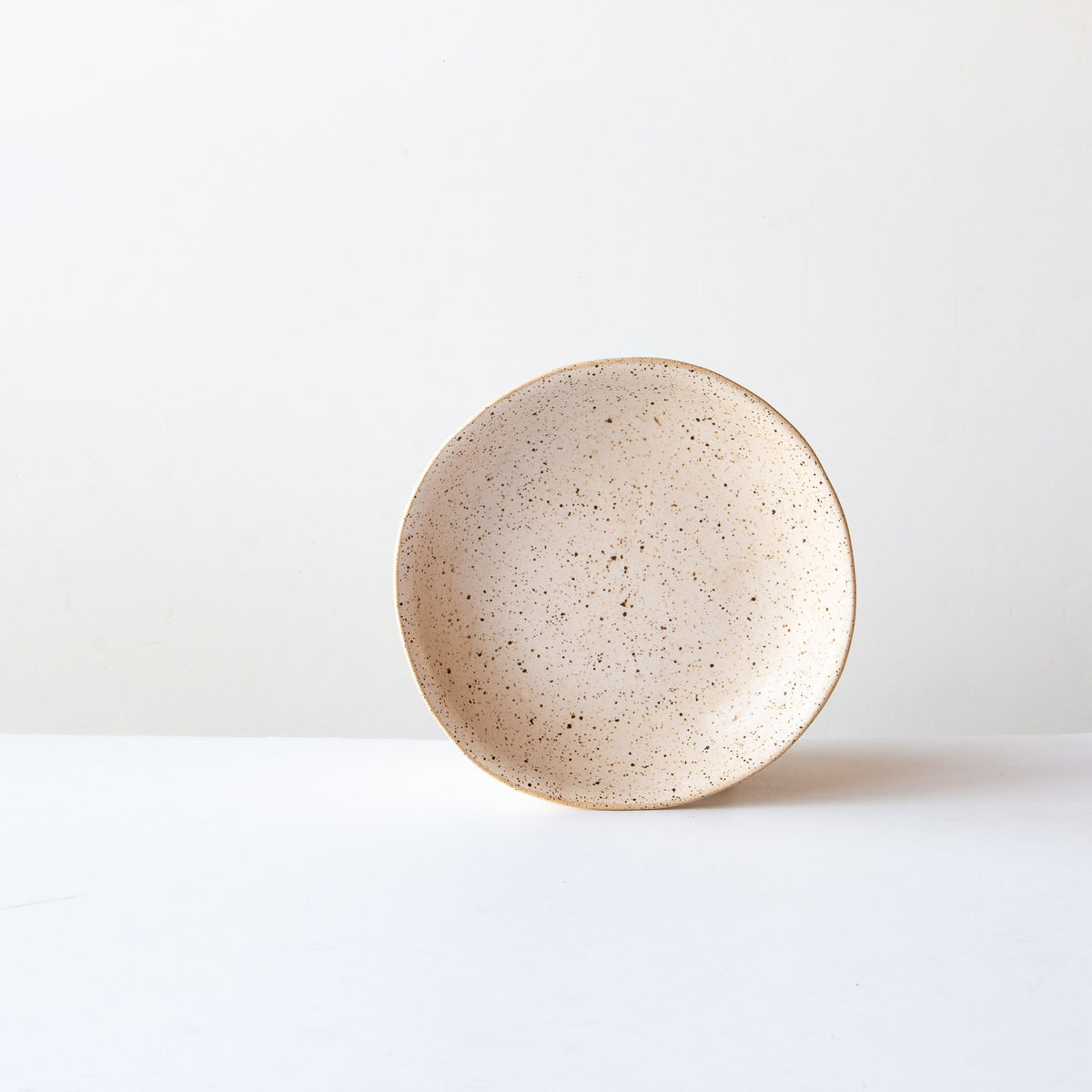 Small Pasta Bowl - Handmade in Off-White Glazed Speckled Stoneware - Sold by Chic & Basta