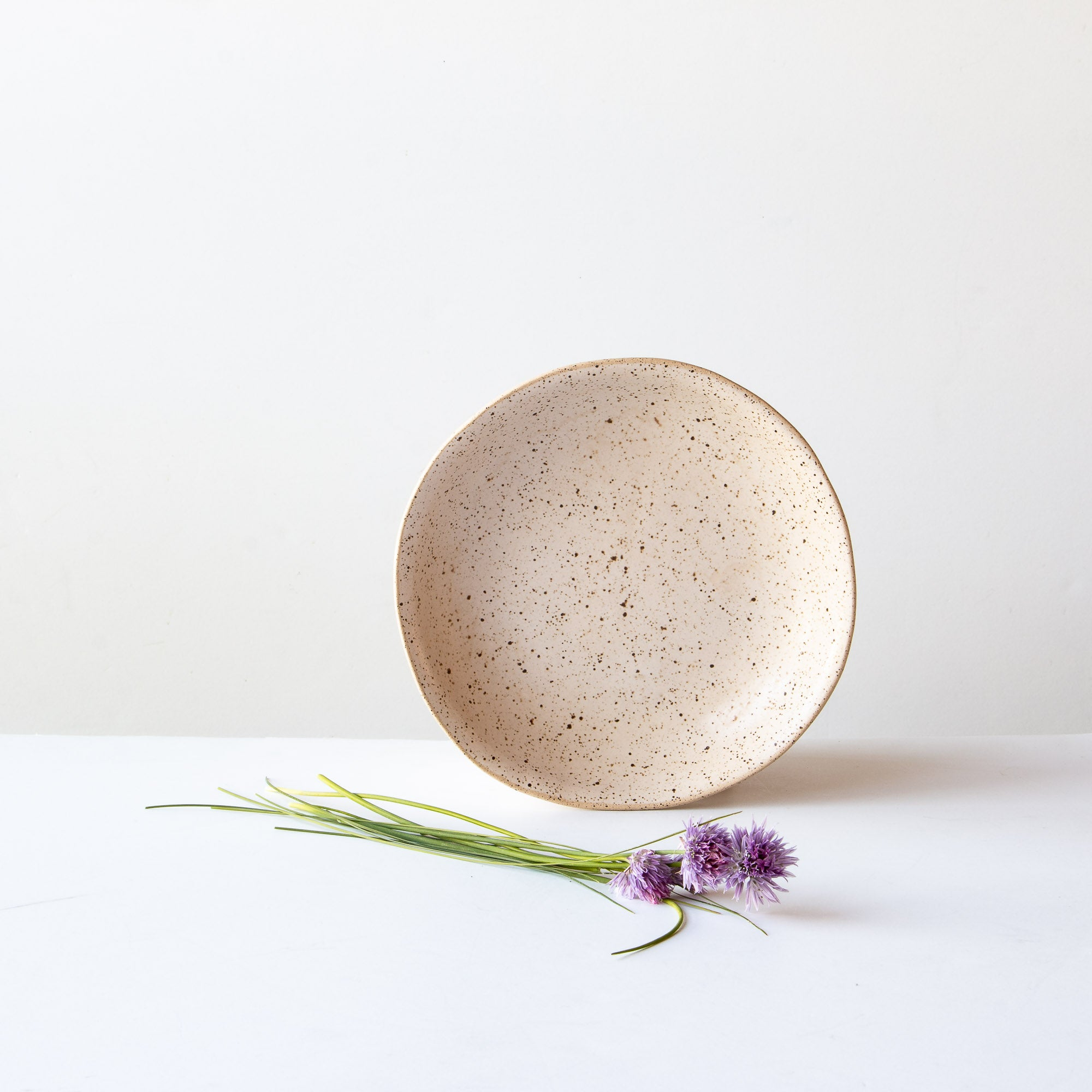 Small Freckled Pasta Bowl - Handmade in Off-White Stoneware - Sold by Chic & Basta