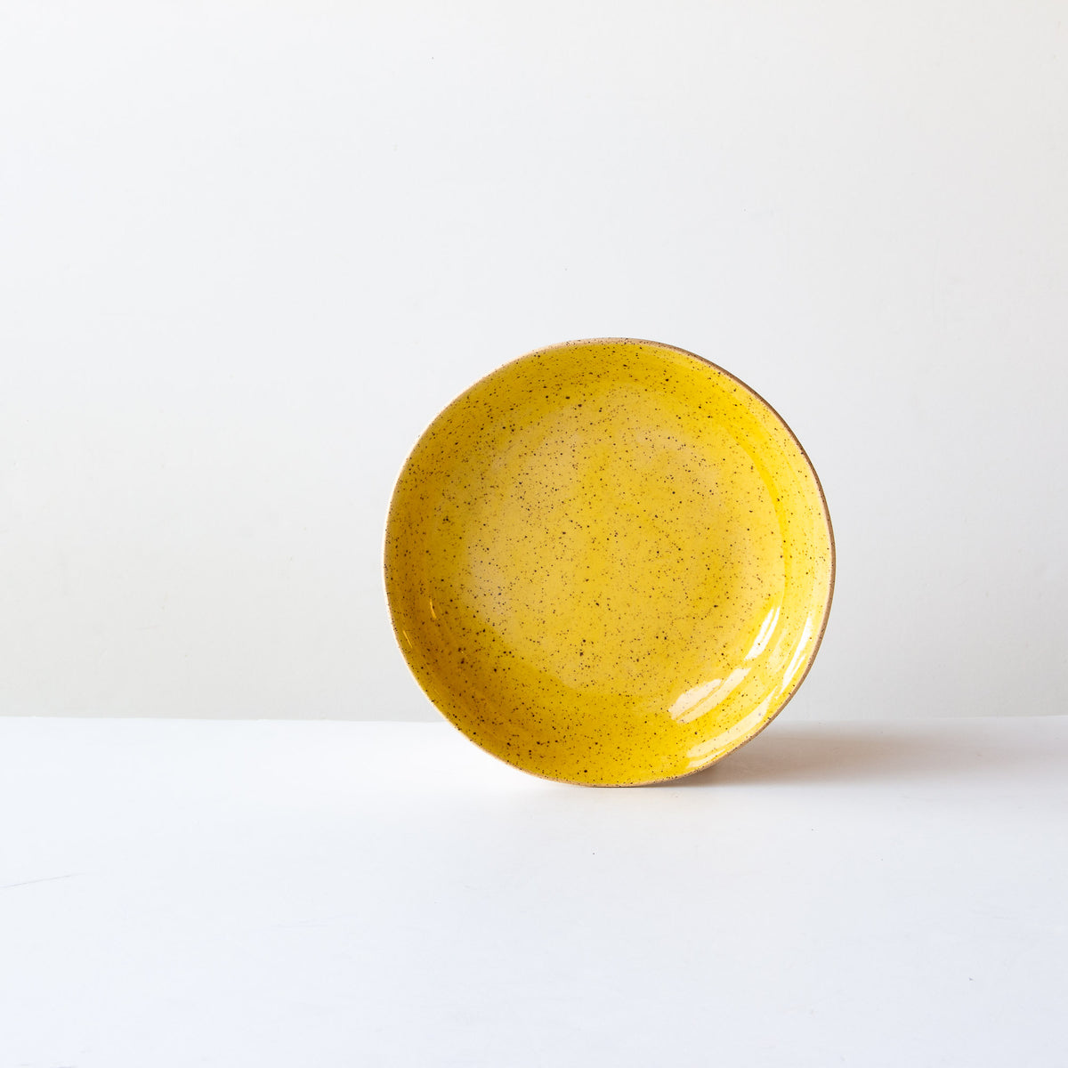 Small Pasta Bowl - Handmade in Speckled Yellow Glazed Stoneware - Sold by Chic & Basta