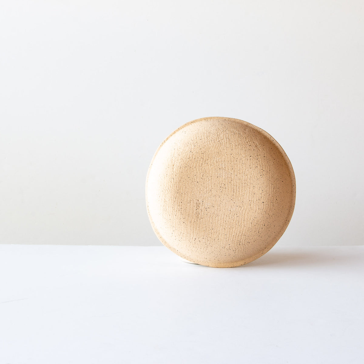 Back View - Small Freckled Pasta Bowl - Handmade in Glazed Stoneware - Sold by Chic & Basta