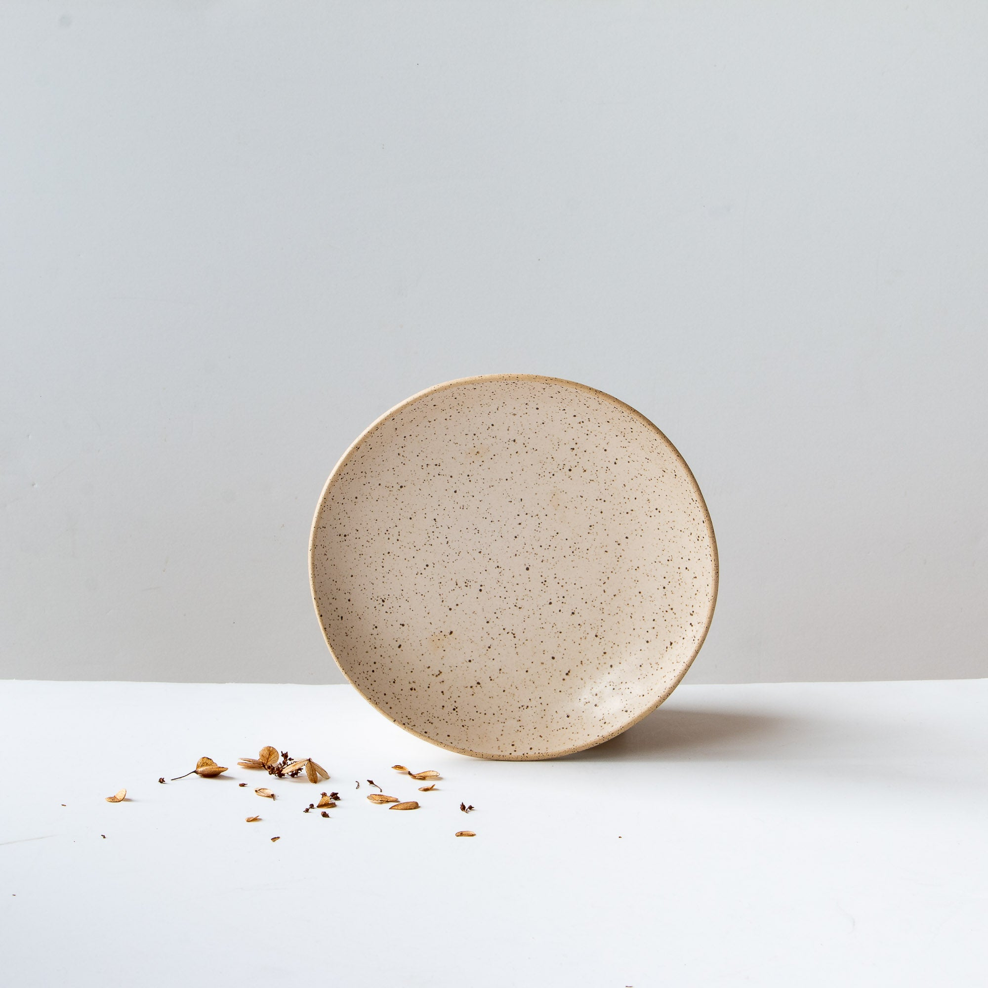 Yellow Handmade Freckled Salad Plate in Stoneware - Sold by Chic & Basta