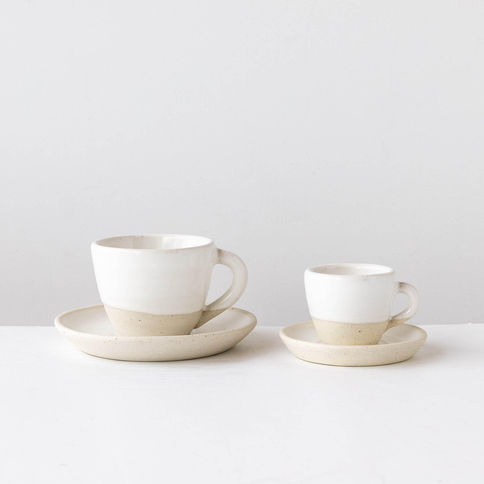 Handmade Ceramic Espresso and Cappuccino Coffee Cup & Saucer Set - Sold by Chic & Basta