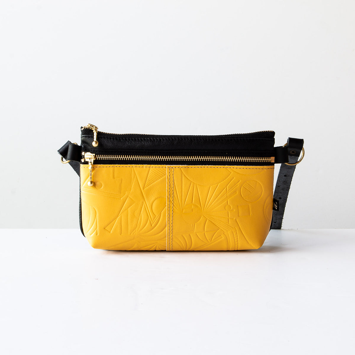 Glendale Waist Pouch / Bag / Clutch - Yellow / Recycled Leather - Sold by Chic & Basta