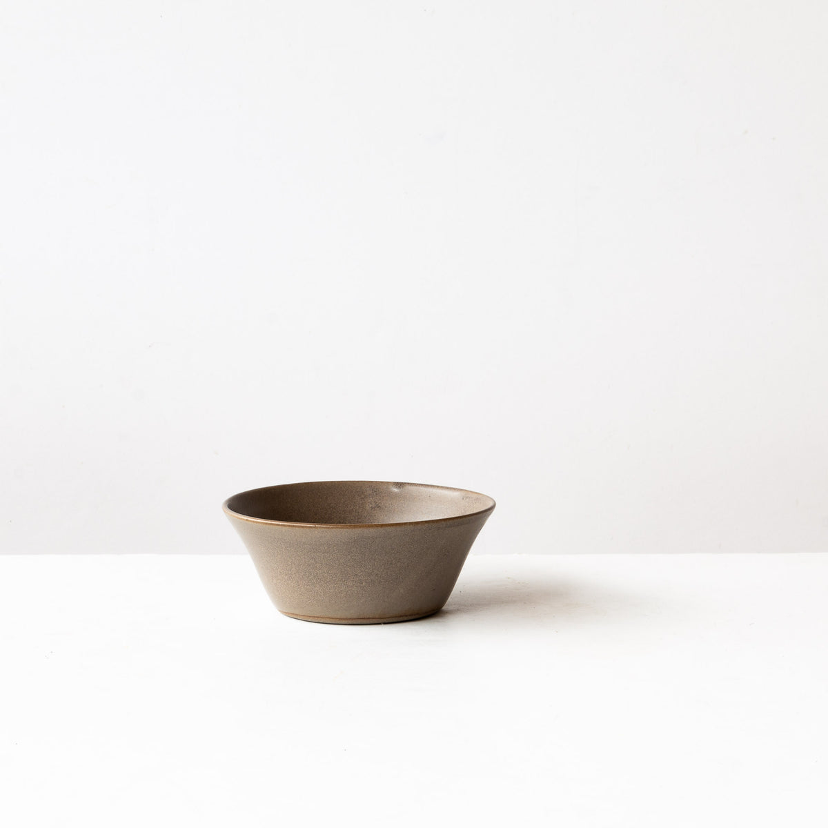 Taupe - Handmade Grey Stoneware Blooming Bowl - Sold by Chic & Basta