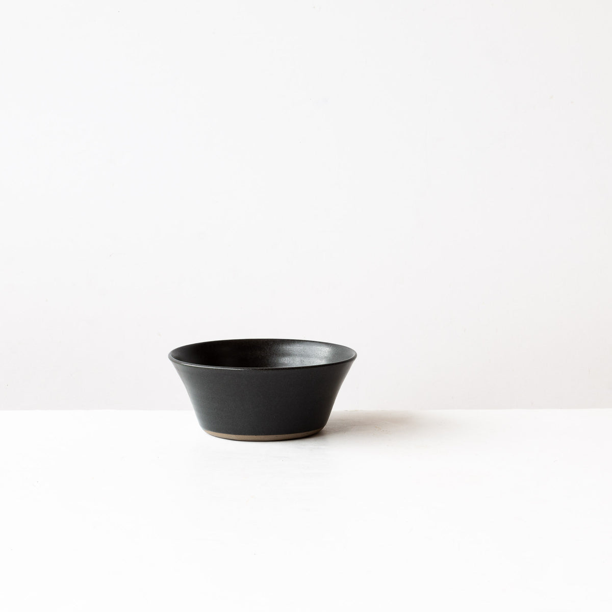 Matte Black - Handmade Grey Stoneware Blooming Bowl - Sold by Chic & Basta