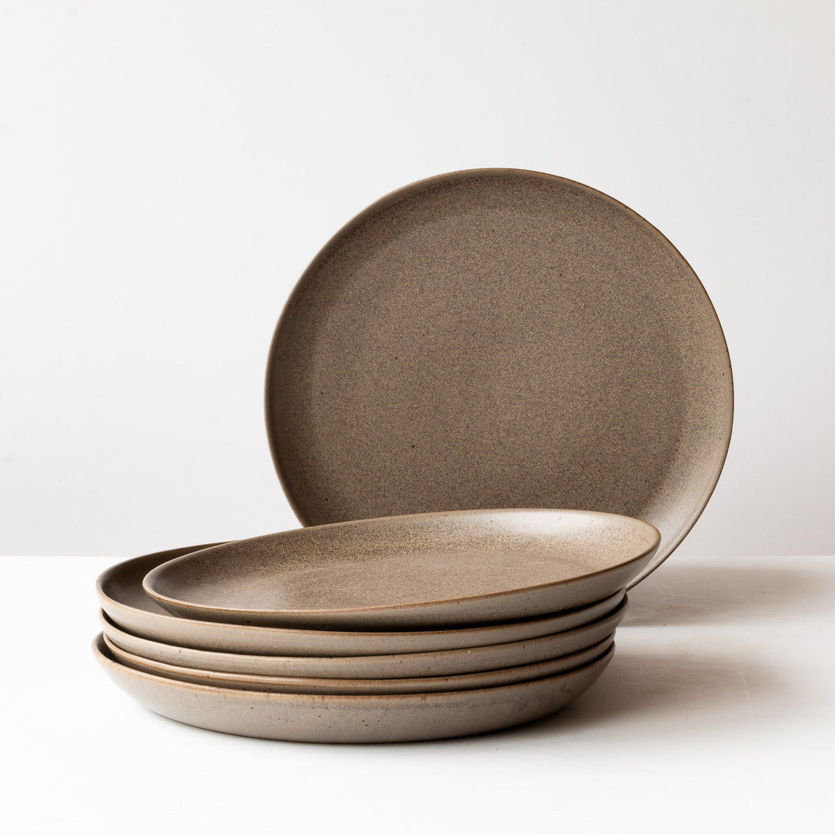 Taupe - Handmade Grey Stoneware Dinner Plates - Sold by Chic & Basta