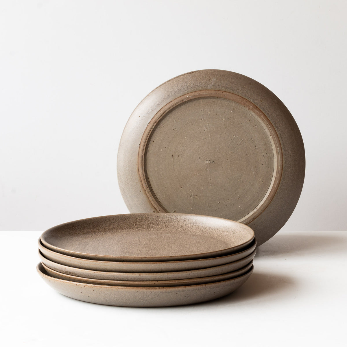 Taupe - Three Grey Stoneware Dinner Plates - Sold by Chic & Basta