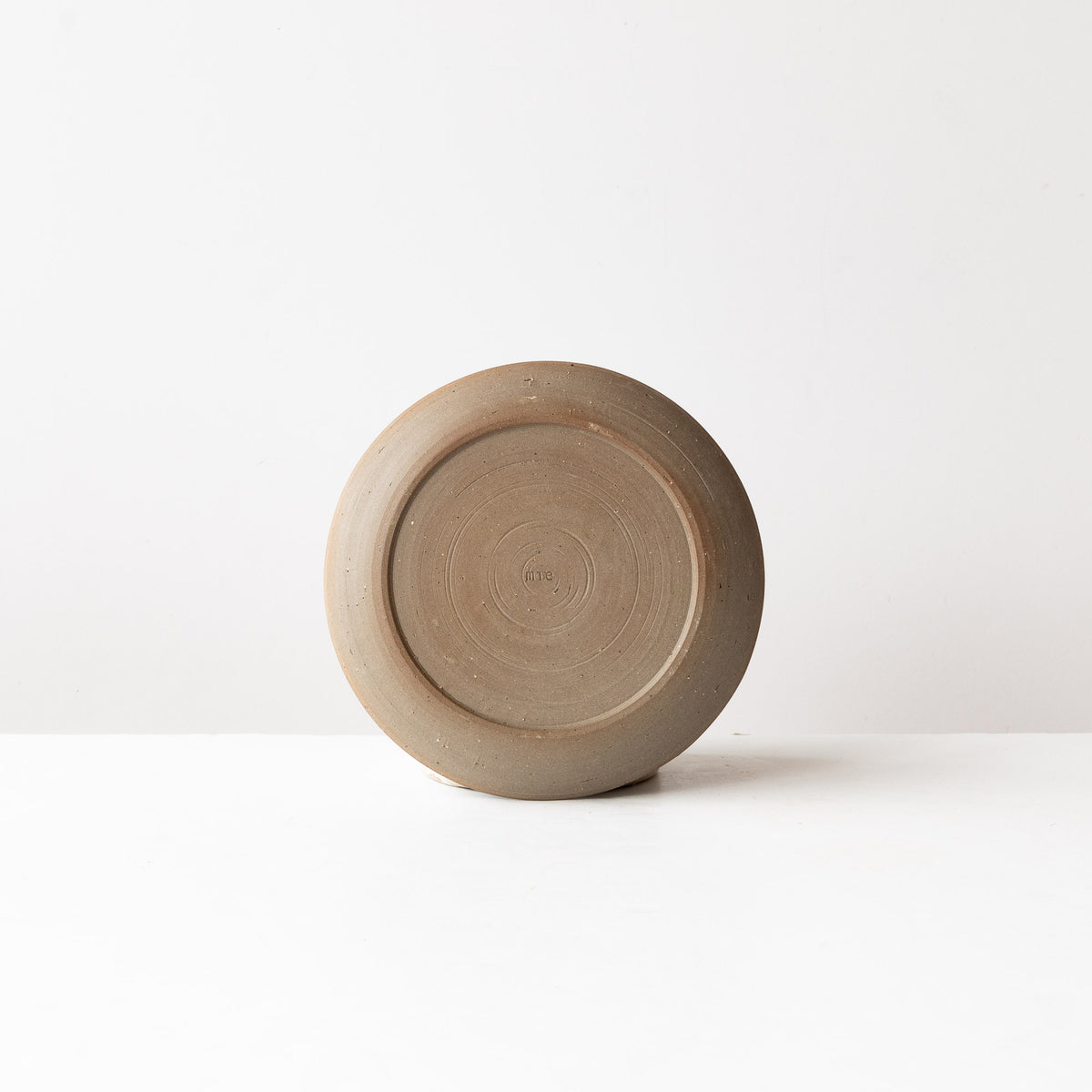 Rear View - Handmade Grey Stoneware Small Plate - Sold by Chic & Basta