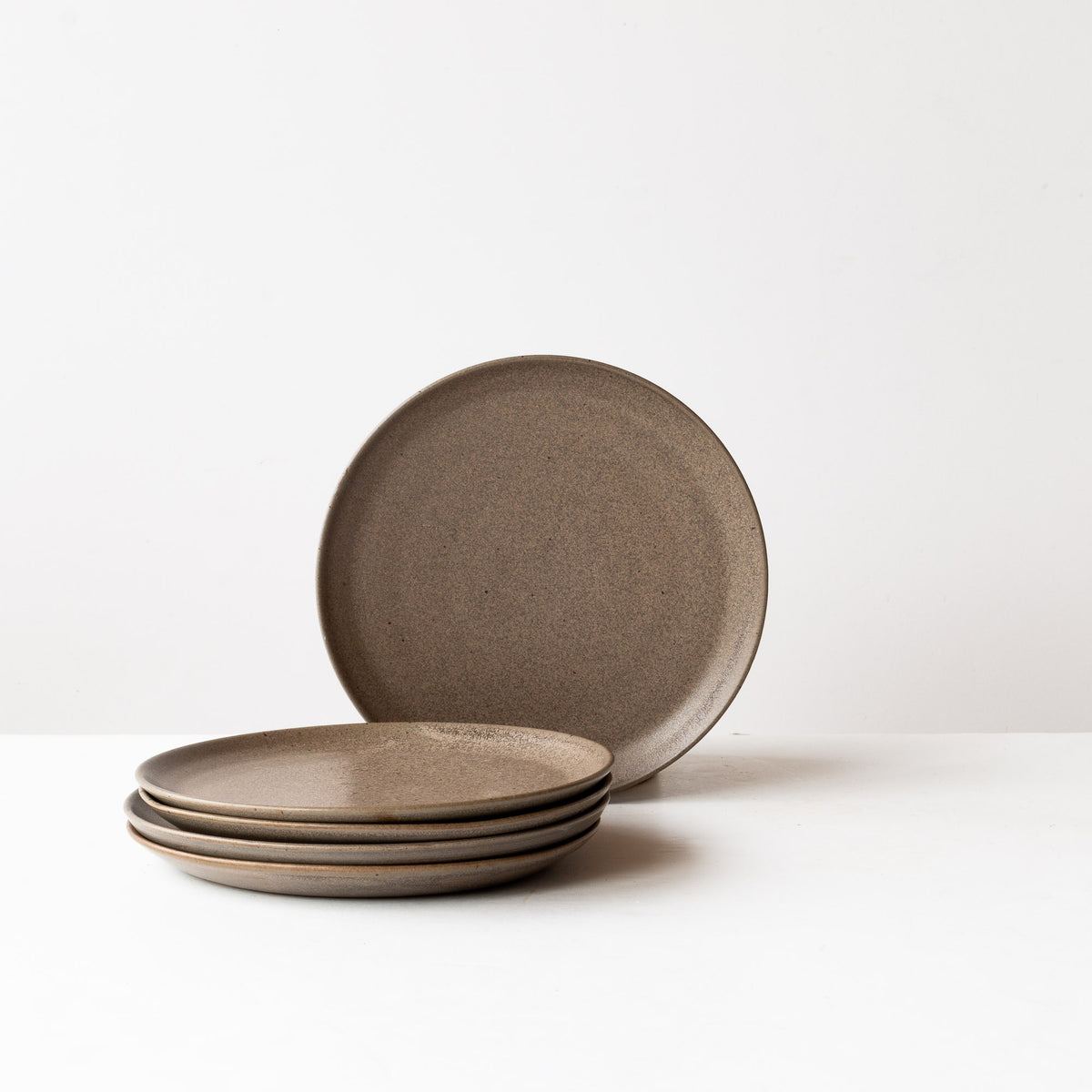 Taupe - Handmade Grey Stoneware Small Plates - Sold by Chic & Basta