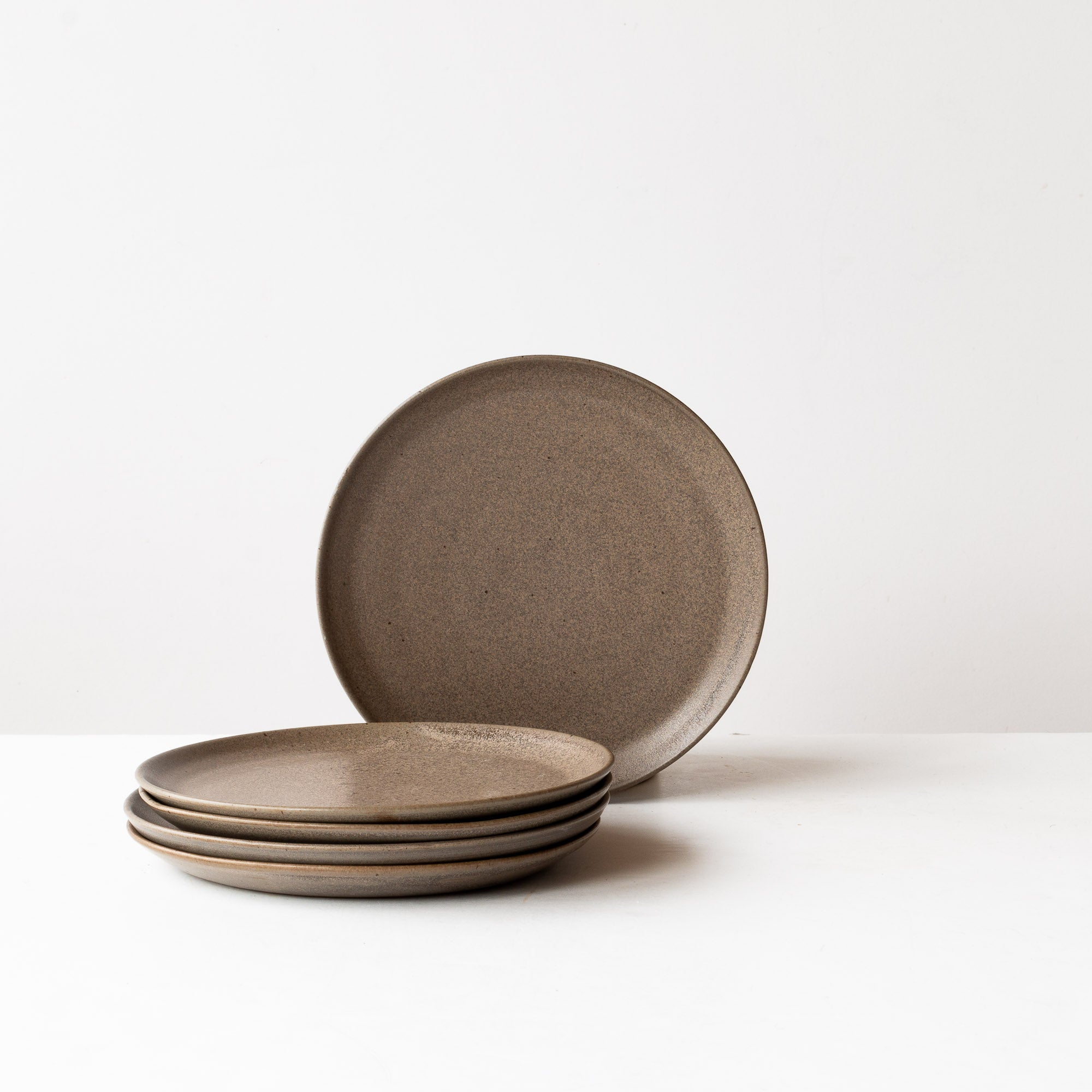 Matte Black Handmade Stoneware Small Plates - Sold by Chic & Basta