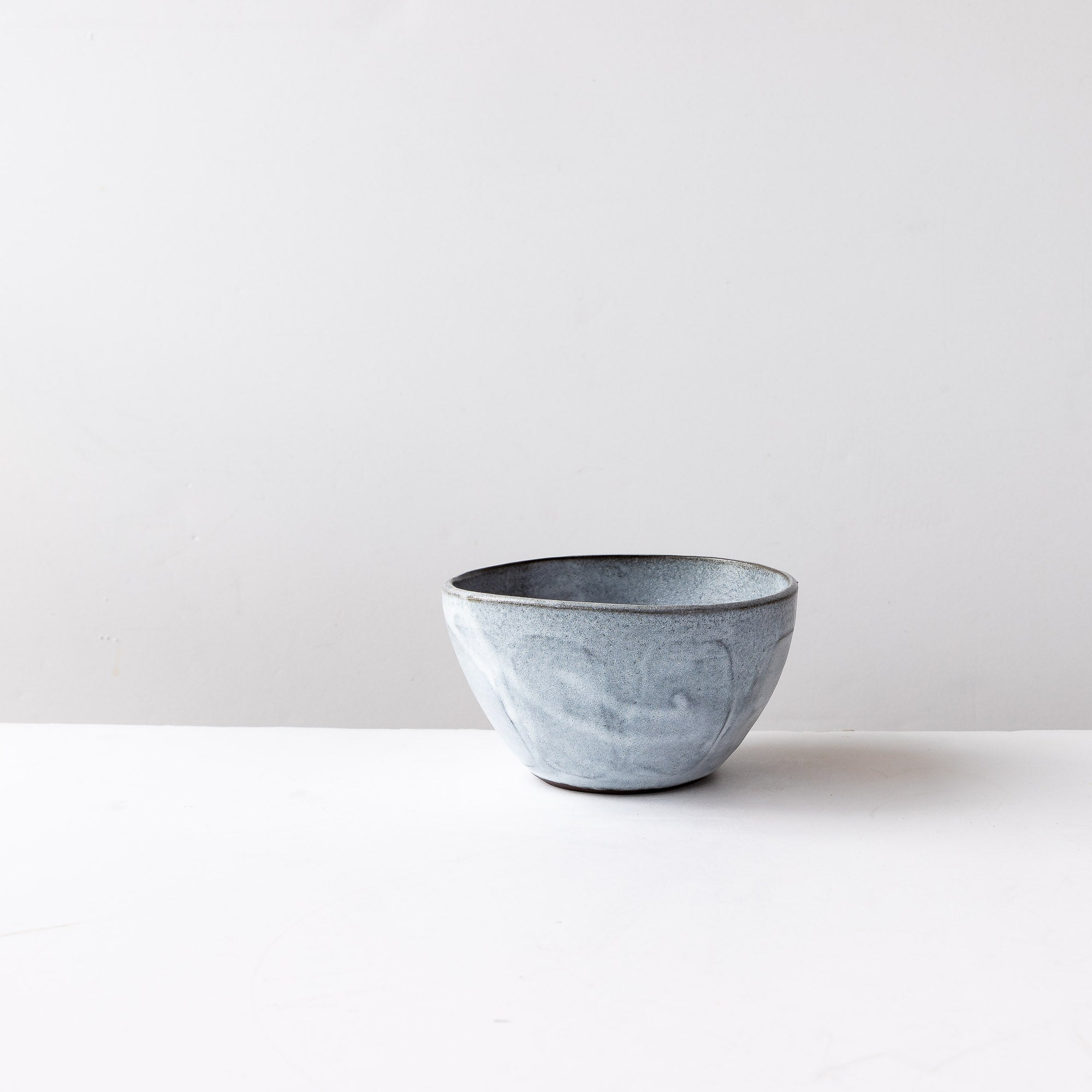 Handmade Stoneware Breakfast Bowl - Grey & White - Sold by Chic & Basta