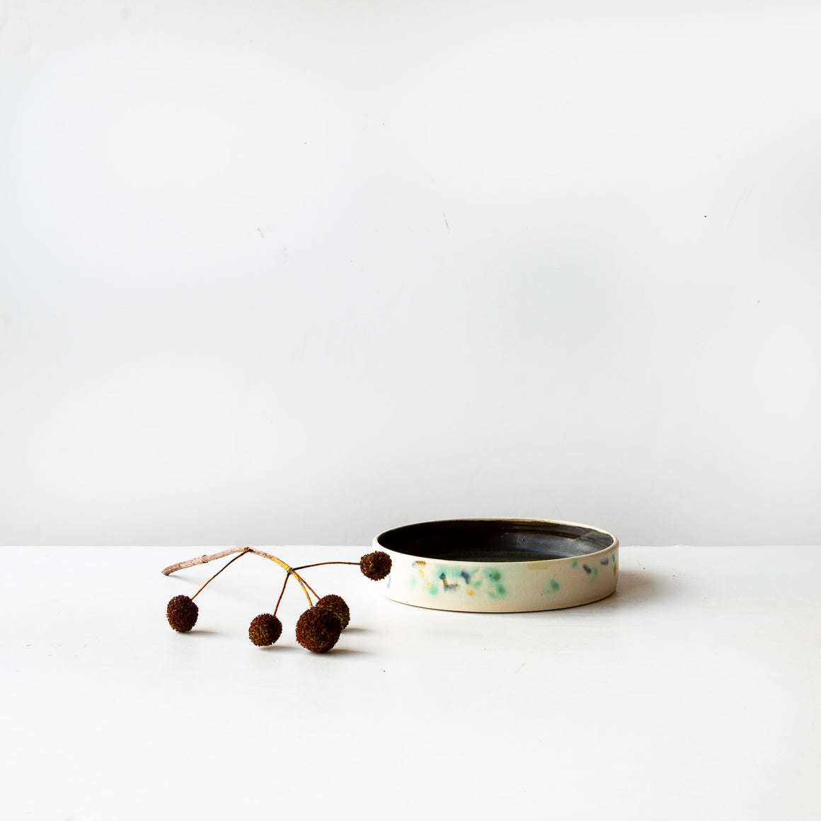 Hanabira - Three Handmade Round Ceramic Trays - Makiko Hicher-Nakamura - Sold by Chic & Basta