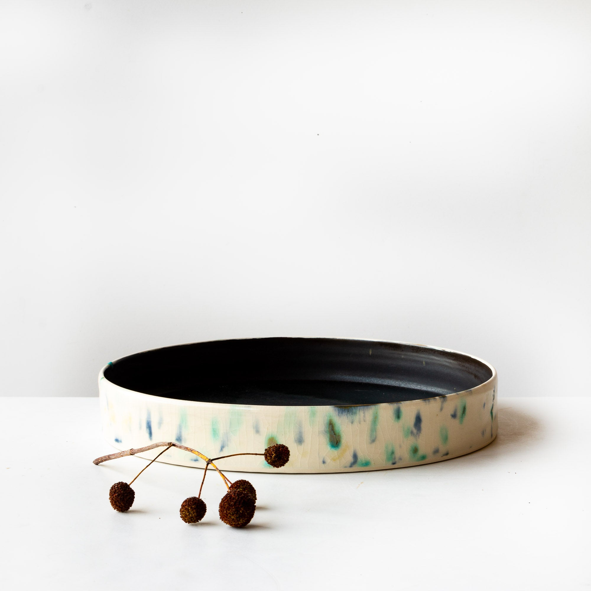 Hanabira - Large Round Ceramic Tray - Sold by Chic & Basta