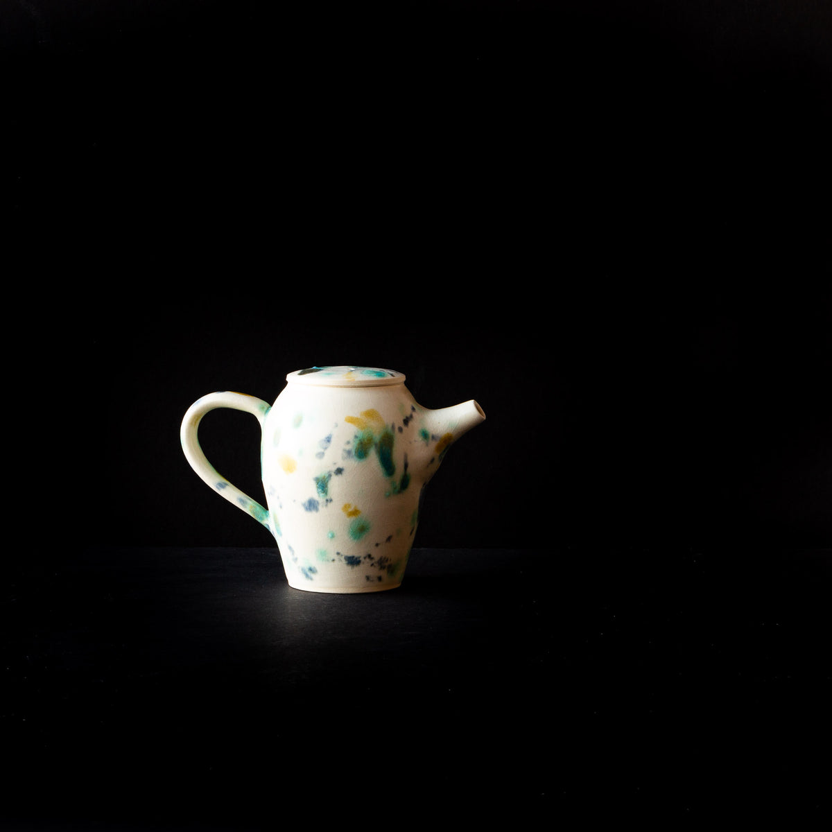 Hanabira - Small Handmade Ceramic Teapot on Black Background - Sold by Chic & Basta