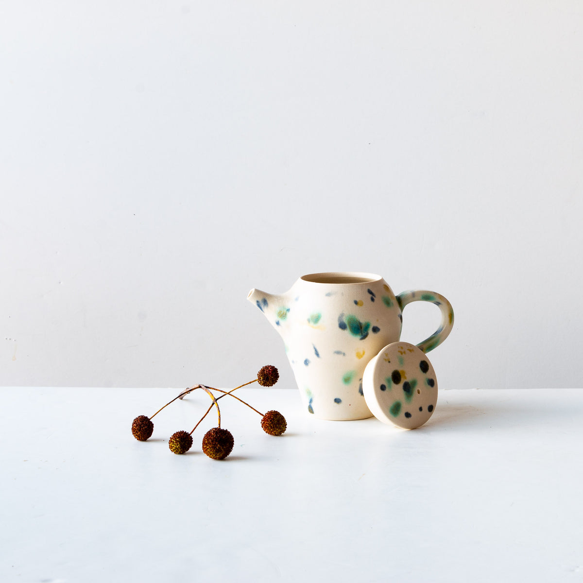 Photoshoot - Hanabira - Small Handmade Ceramic Teapot - Sold by Chic & Basta