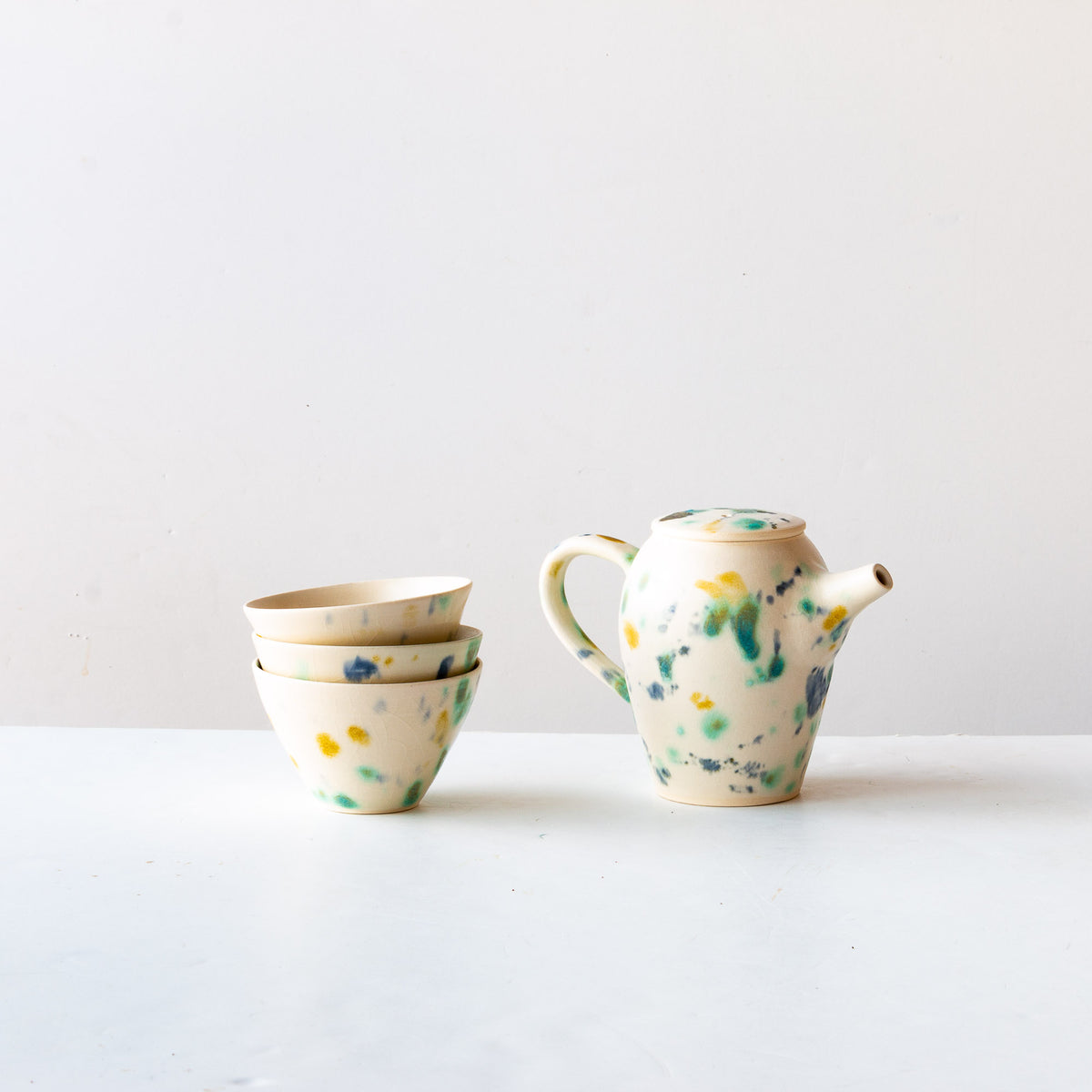 Hanabira - Small Handmade Ceramic Teapot & Teacups - Sold by Chic & Basta