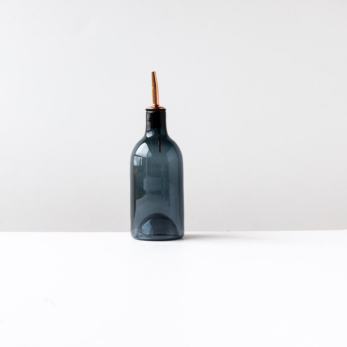 Grey Hand-blown Glass Oil / Vinegar Bottle- Sold by Chic & Basta