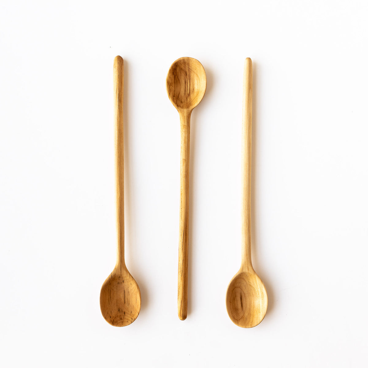 Three Hand-carved Basswood Cooking Spoons - Sold by Chic & Basta