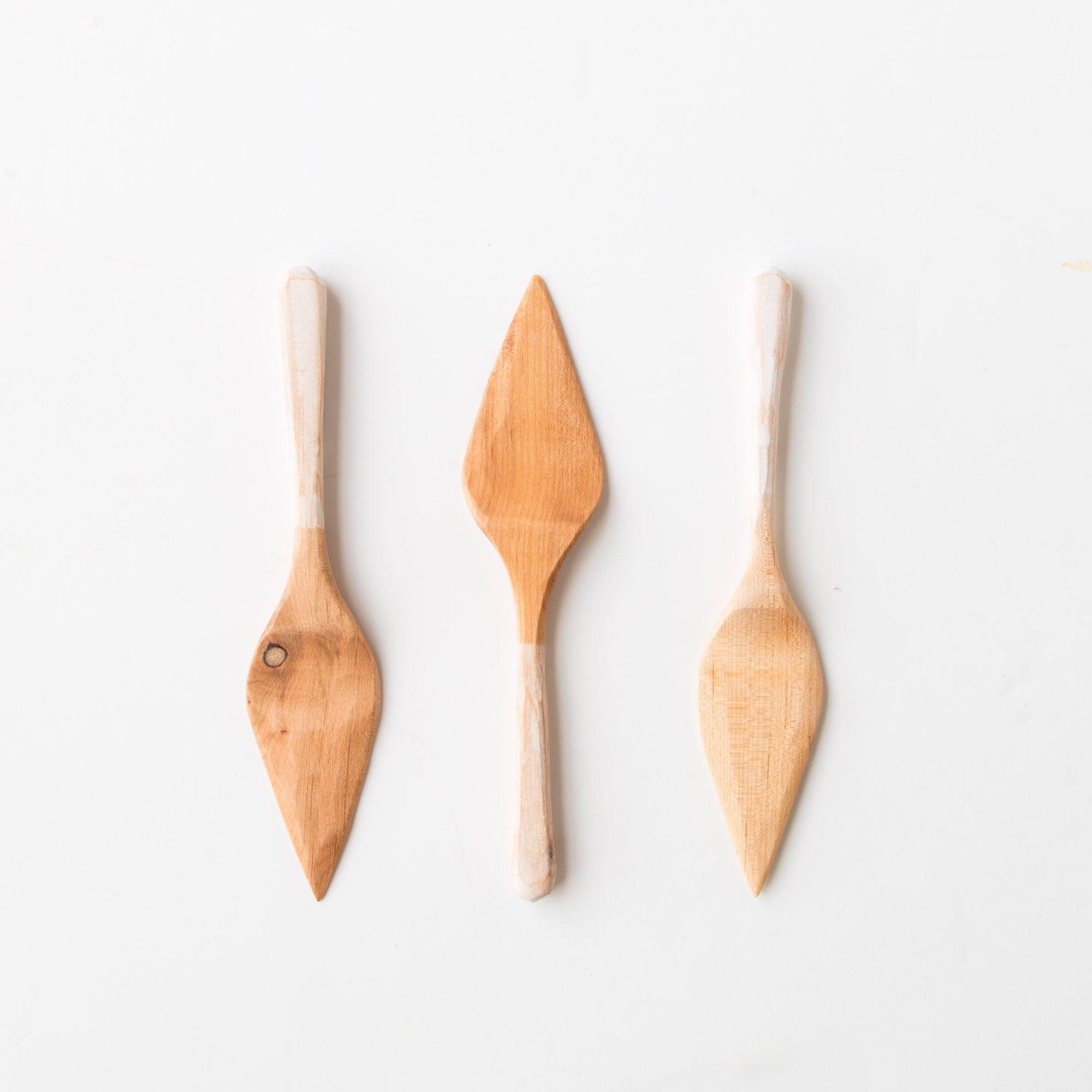 Hand Carved Pastry Spatulas in Recycled Maple - Sold by Chic & Basta