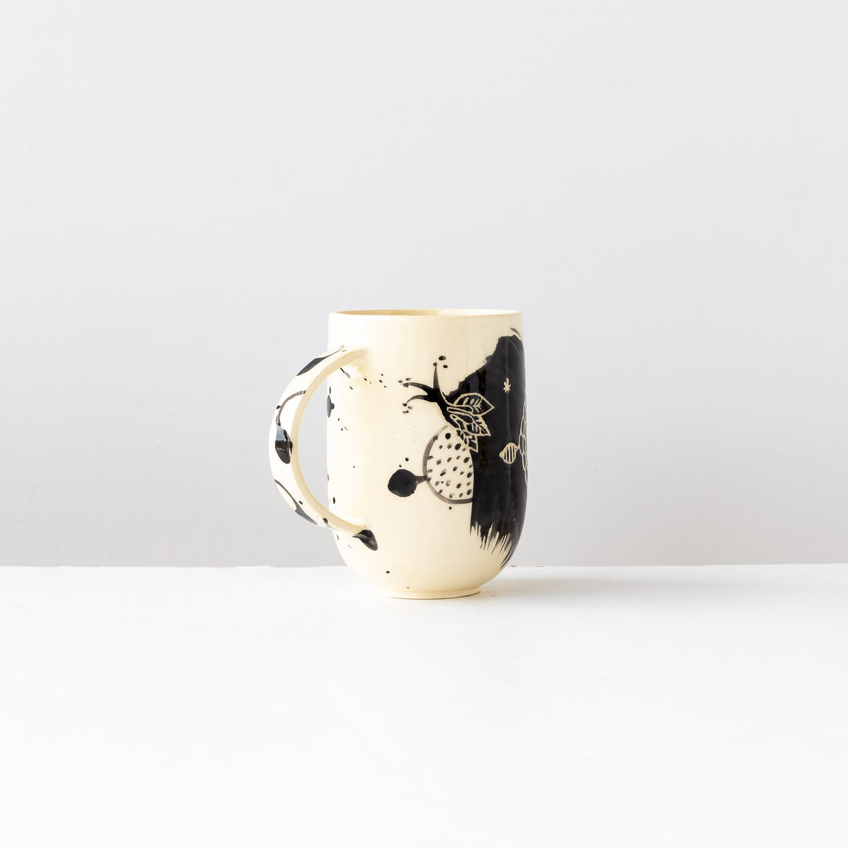 Large Hand Painted Earthenware Mug - Sold by Chic & Basta