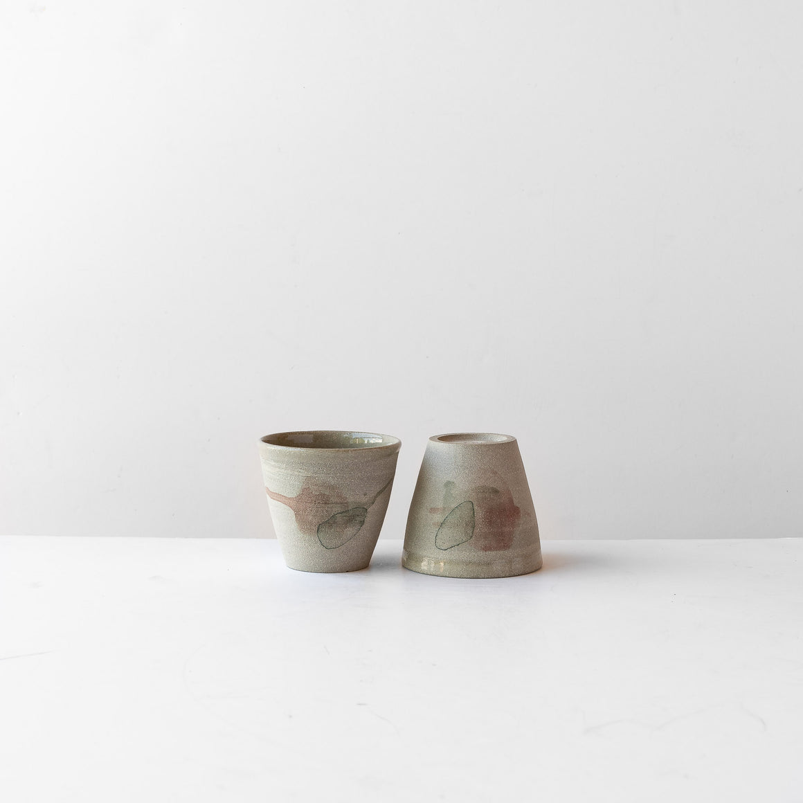 Hand Painted Stoneware Tumbler - Sold by Chic & Basta