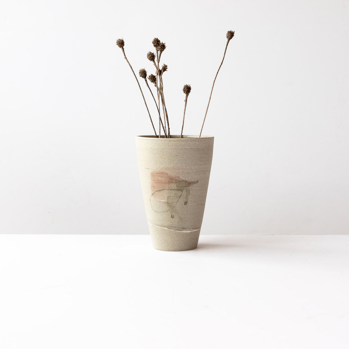 Hand Painted Stoneware Vase - Sold by Chic & Basta